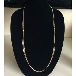 Banana Republic Gold Tone Layered Chain Necklace